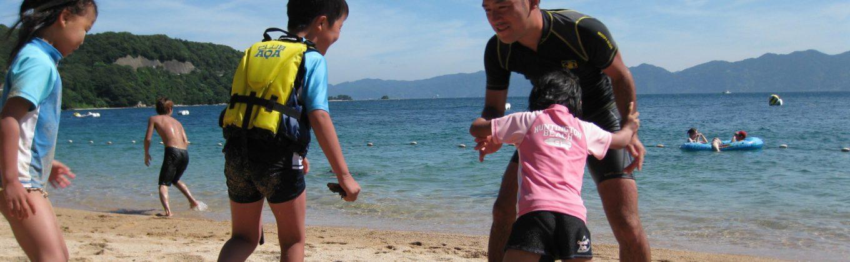 学童 海での相撲